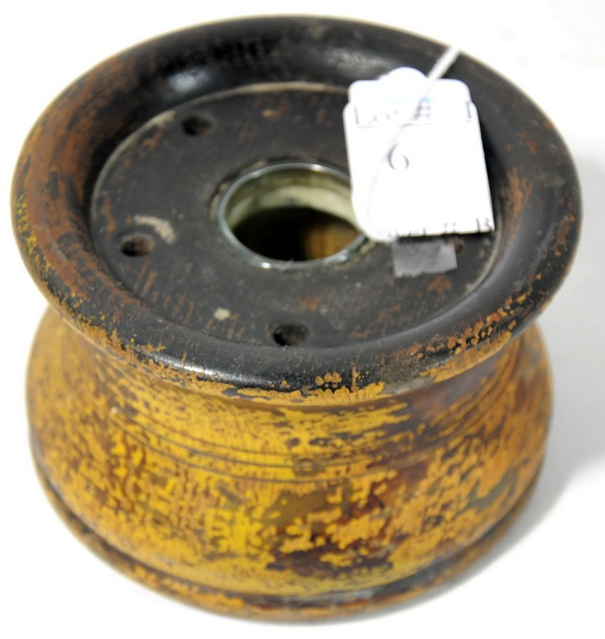 6: S. Silliman and Co. Chester CT. Wood Inkwell with Gl