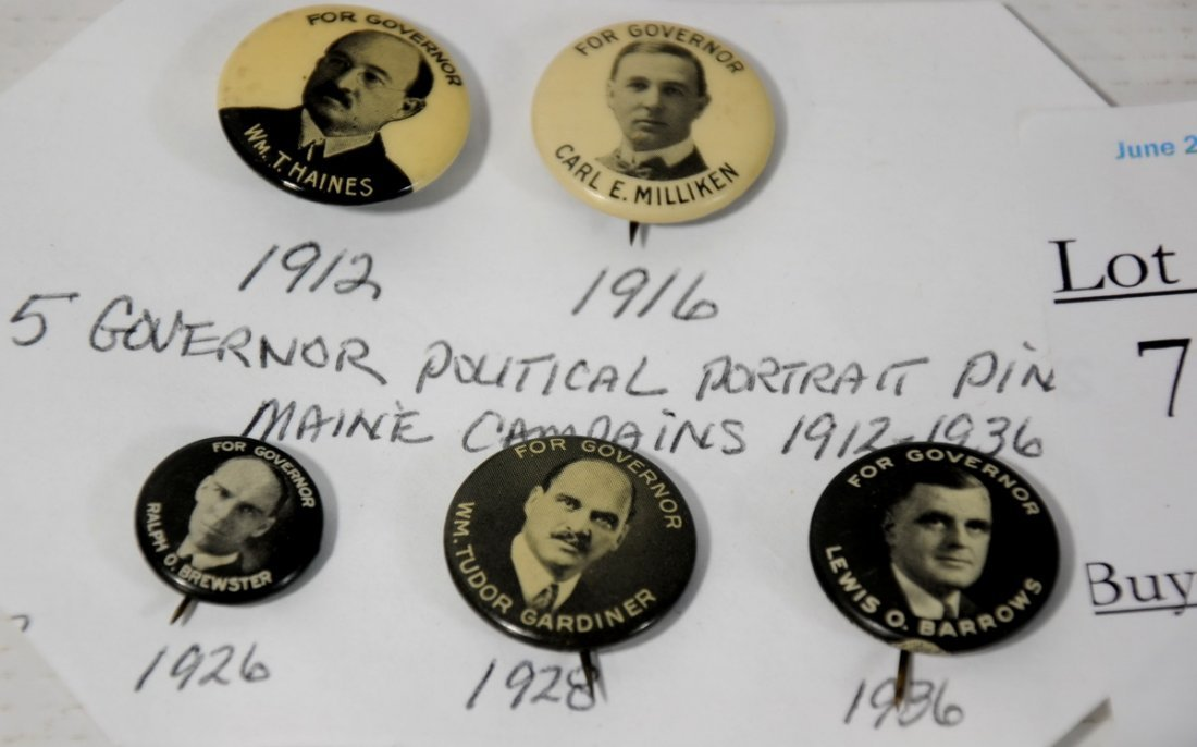 7: Collection of 5 early 1900's Maine Governor Politica