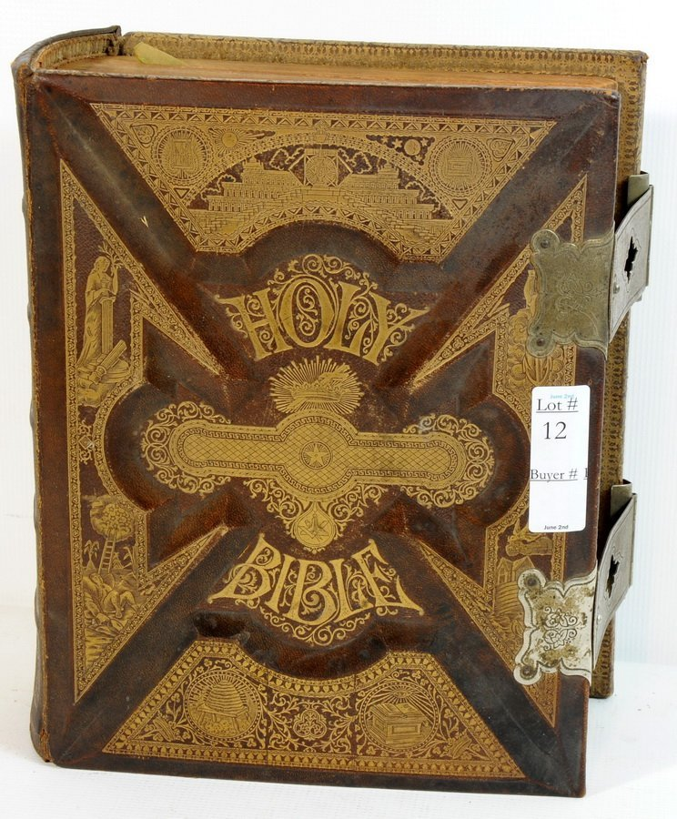 12: 1892 Family Bible Jubilee Commemmorative Edition in