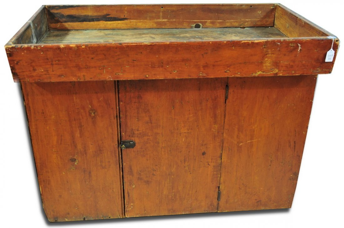 16: Old country dry sink 43x23 with cabinet underneath