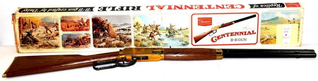 101A: 1968 Sears Centenial BB Gun in original box made