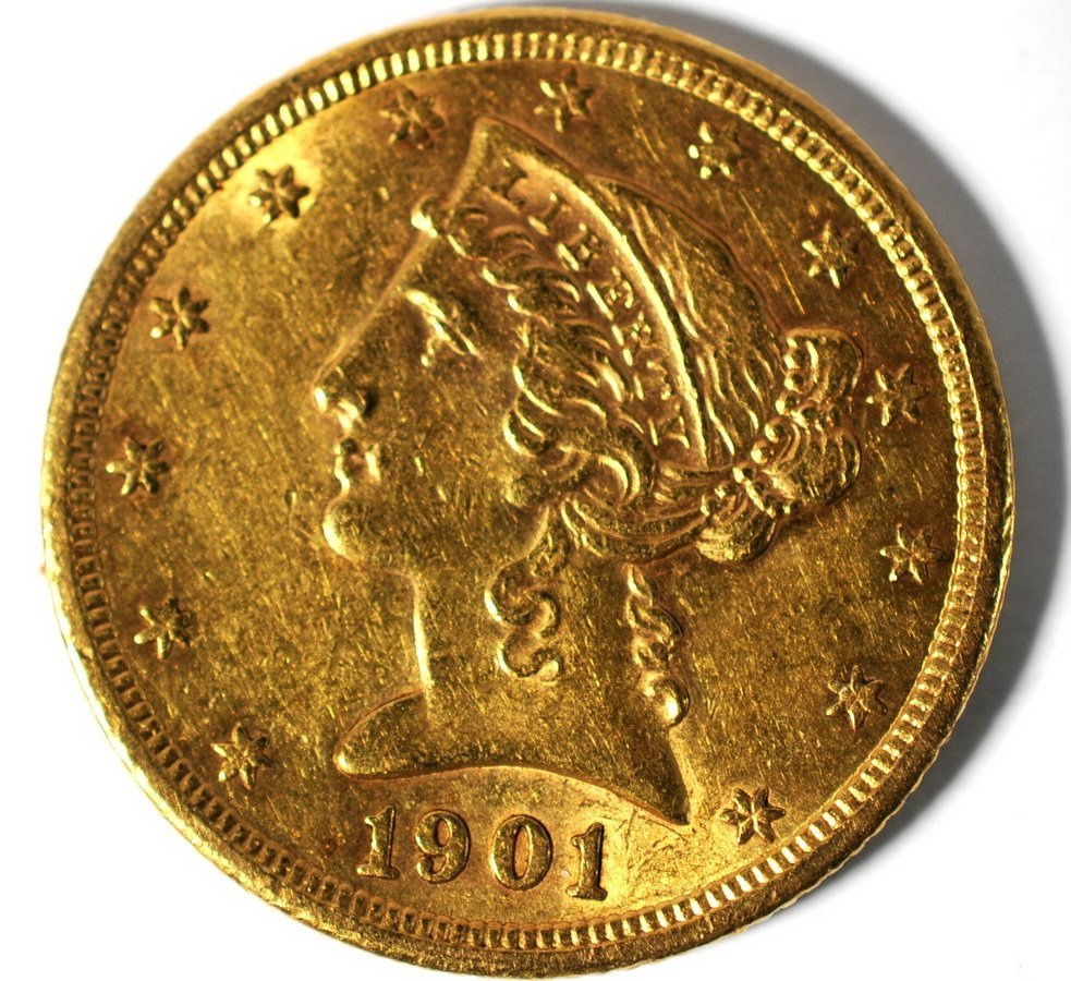 3: 1901-S $5 Liberty Gold Coin MS/BU