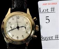 5: 14 Kt. Longines Chronograph men's wrist watch with l