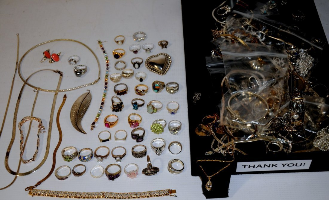9: 25 Troy ounce of Sterling Jewelry to include rings,