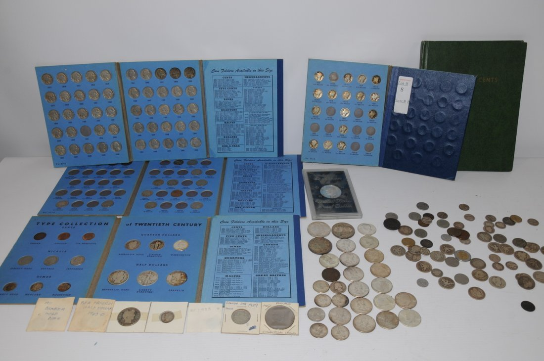 8: Coin collection to include 4 Morgan Dollars, 1 Peace