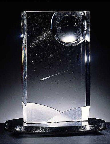 "10: Steuben Crystal sculpture ""Stars Flight"" New In Box"