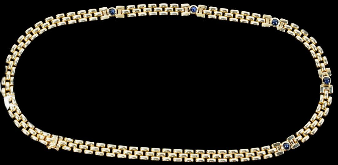 """11: 37 Gram 14kt. Gold and Sapphire necklace 17"""""""