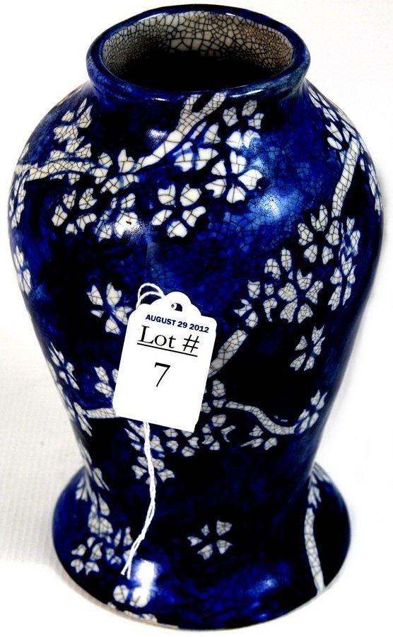"7: Extremely rare 8"" Dedham Pottery vase circa 1933"