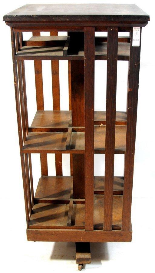 13: Oak revolving bookcase 45x20x20