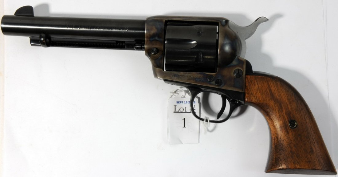 1: Colt single action army 45 caliber with full case co