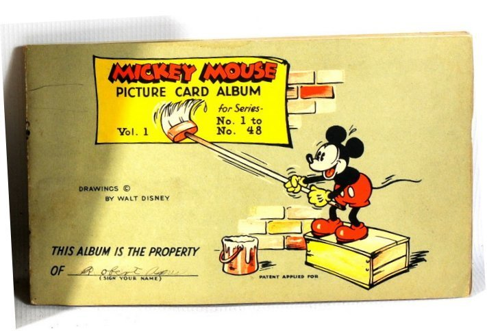 17: Mickey Mouse Picture Card Album for Series No. 1 to