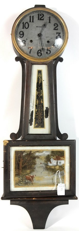 2: New Haven Banjo Clock 36""