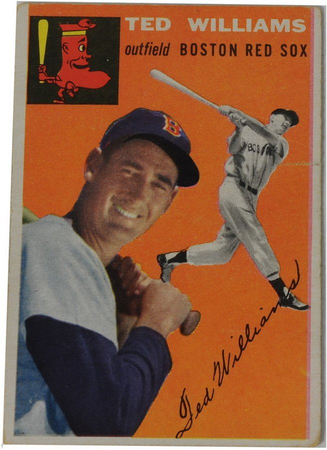 11: 1954 Topps Ted Williams card #1