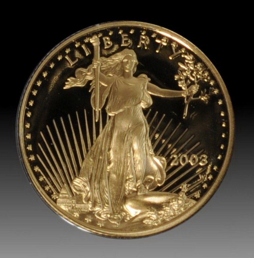 13: 2002 American Gold Eagle 1/4 ounce proof