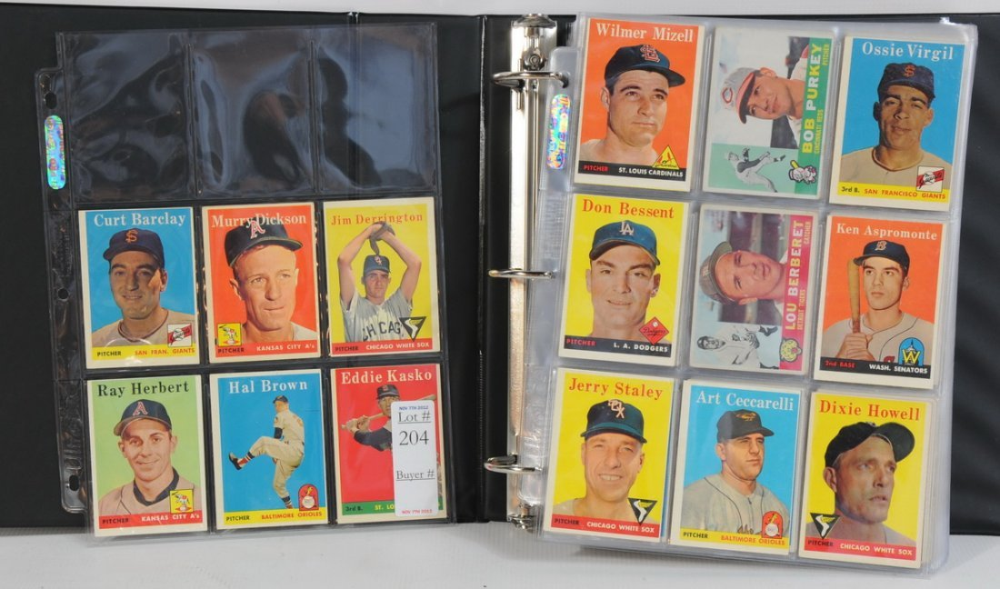 204: Album of 625 Baseball cards 1958-1963