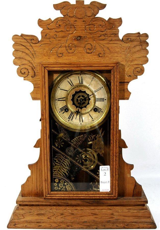 "2: Gingerbread Clock by Waterbury Clock Co. 22""H X 15"""