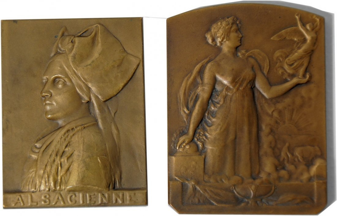 6A: Republic of France 2 Bronze Plaques (War Recovery)
