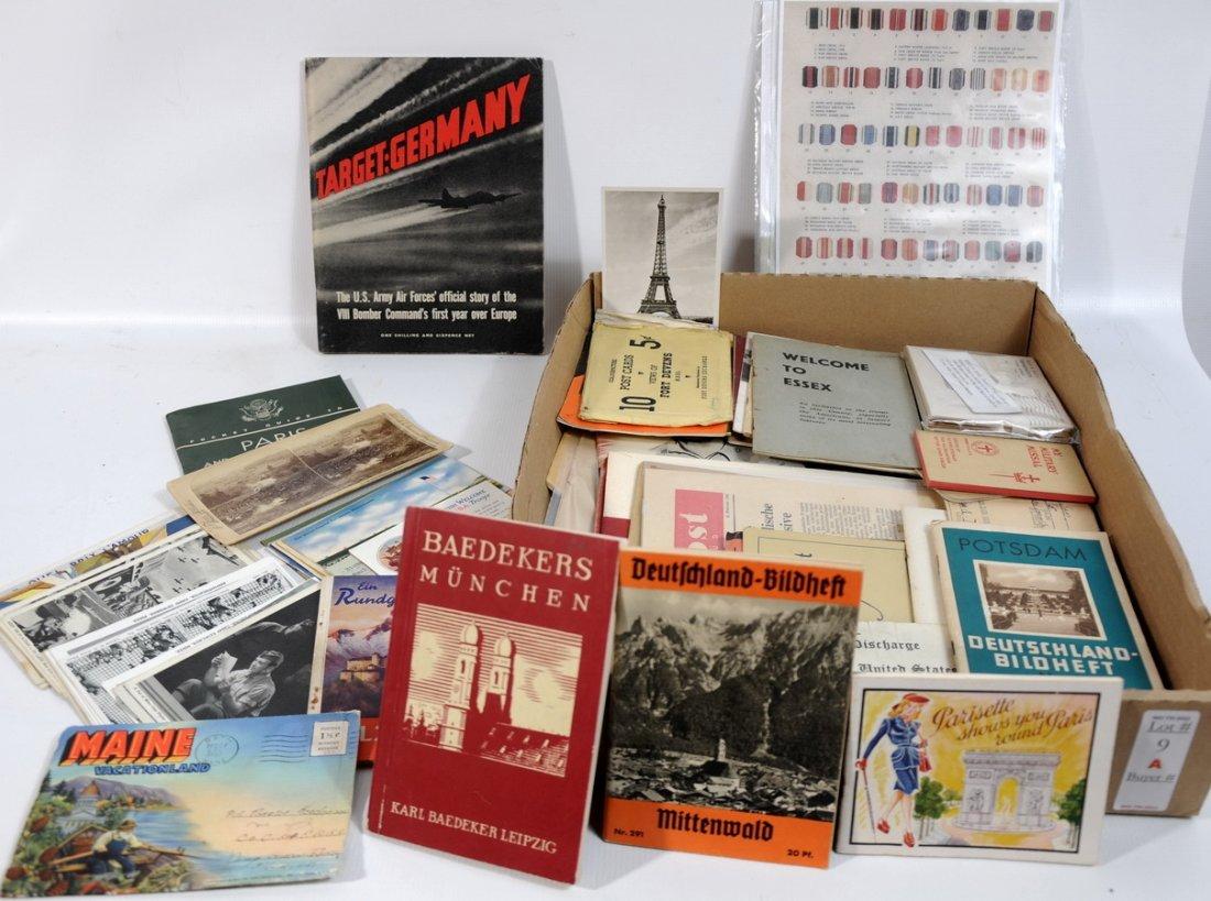 9A: WWII Ephemera Collection. Original Linen Post Cards