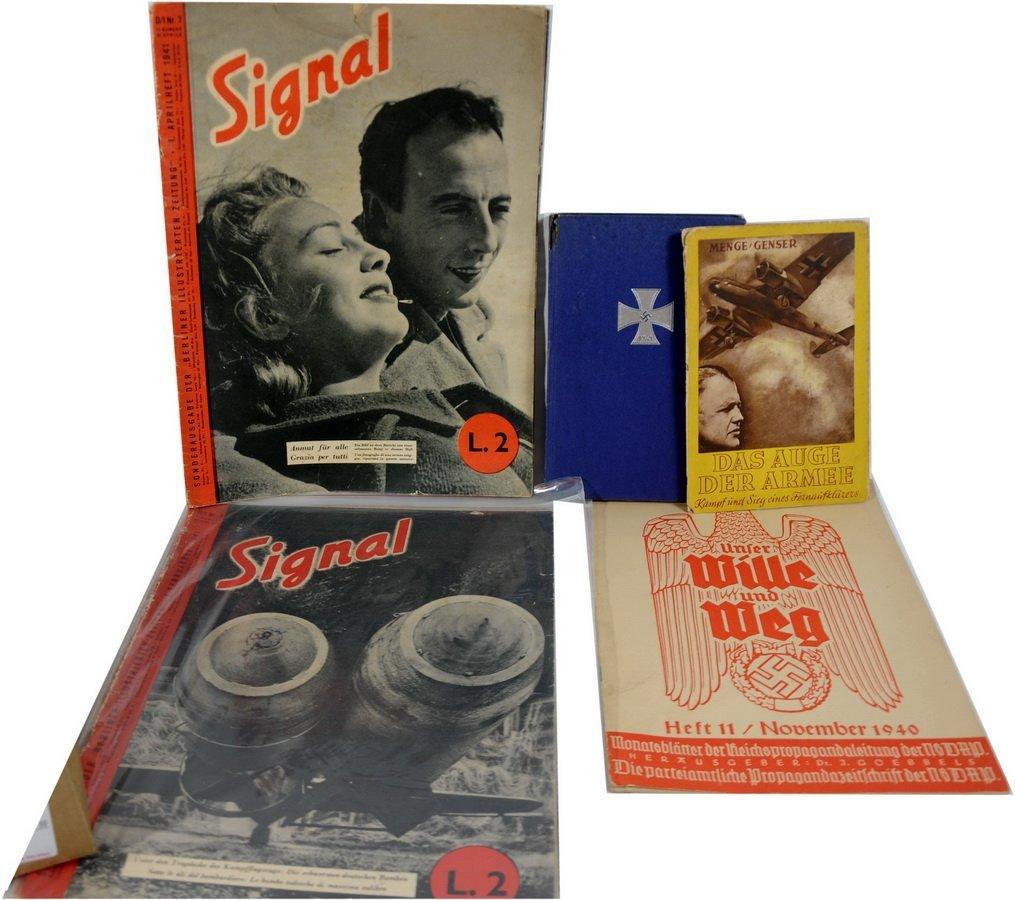 19: 1943 LuftWaffe book w/ Dust Cover & Nov 1940 Nazi M