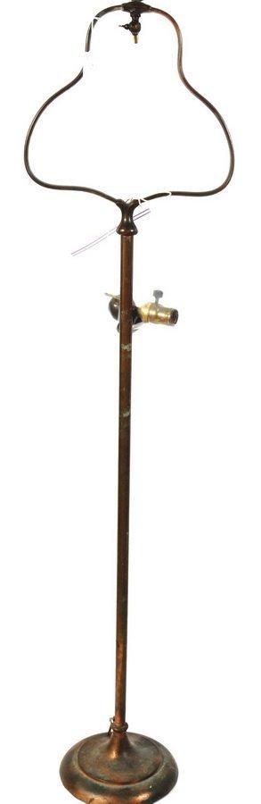 2: Fine Bronze Handel Floor Lamp/No Shade signed on bas