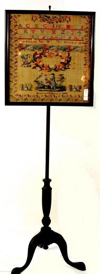 3: Alphabet Sampler Circa 1841 Made by Elizabeth LB Cro