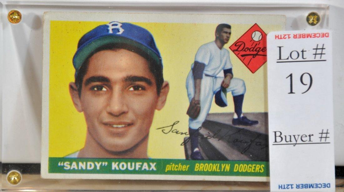 1955 Topps Sandy Koufax card #123