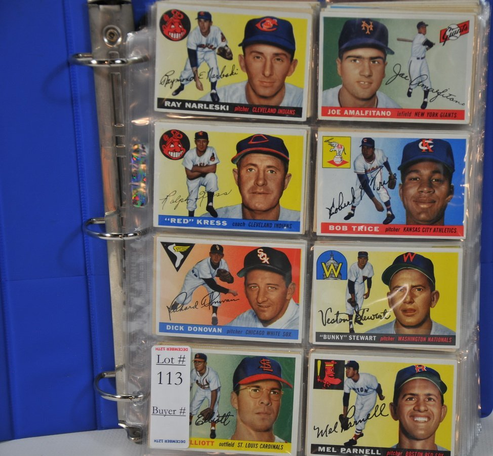 1955 Topps and Bowman baseball cards