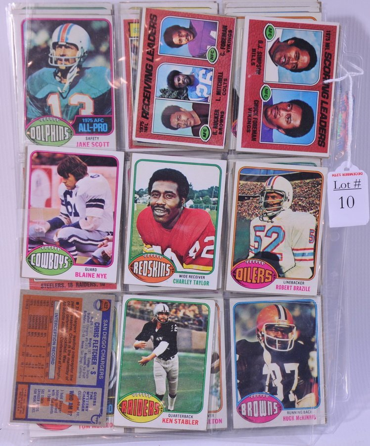 10: 1970's Football Cards