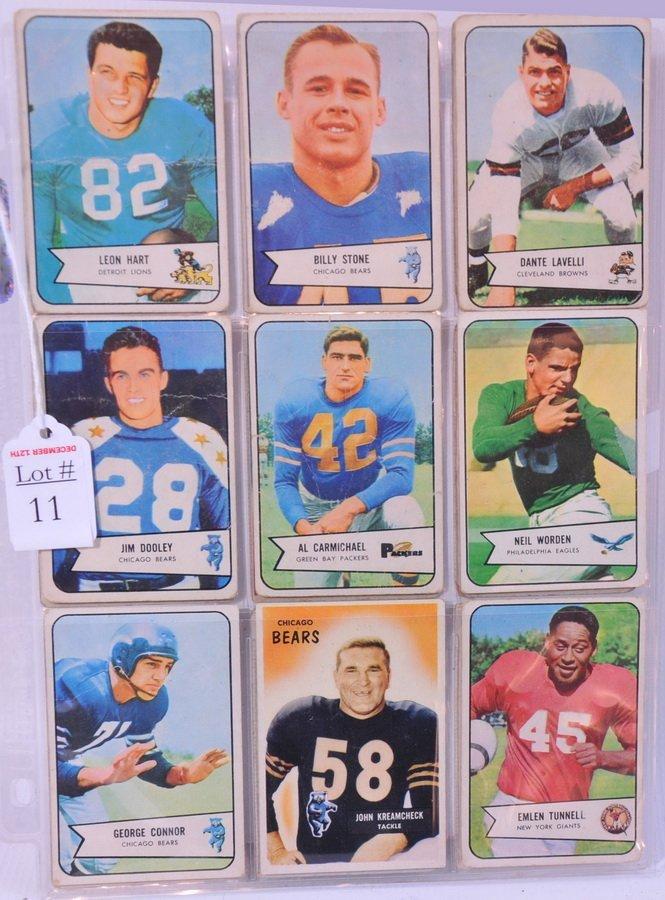 11: 1960's Football cards