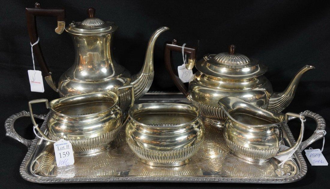 18: Nickel Silver Tea Set
