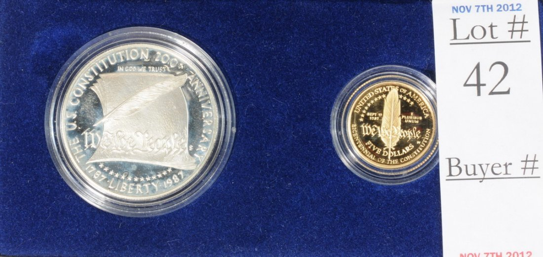 2: 1987 US Constitution Gold and Silver set