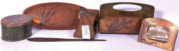 52A Heinz Bronze desk Set