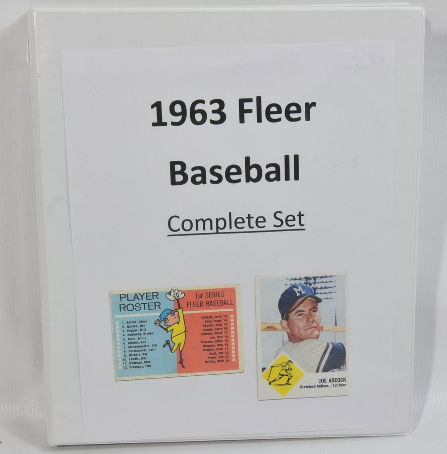 Complete set of 1963 Fleer Baseball cards including che