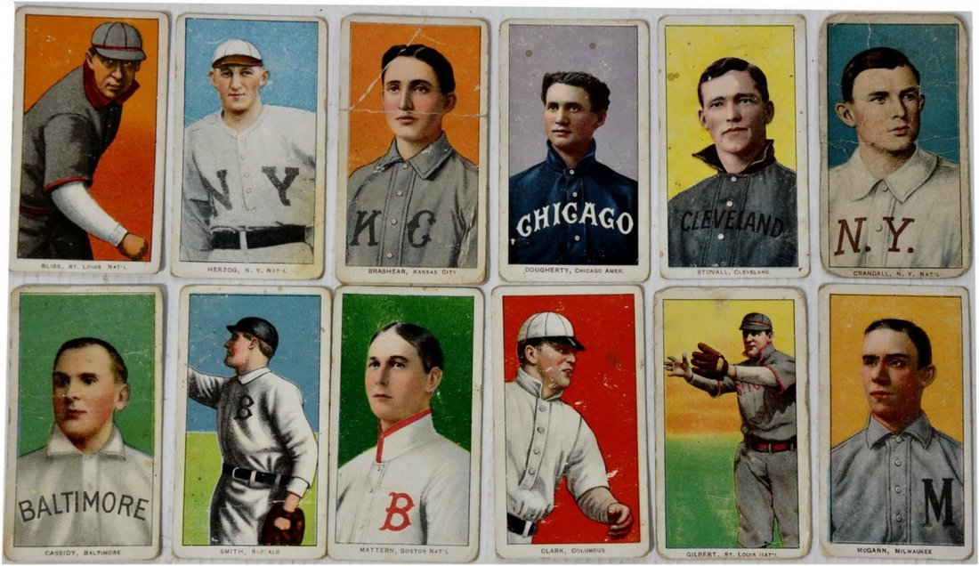 Collection of 13 1909 T-206 Cards