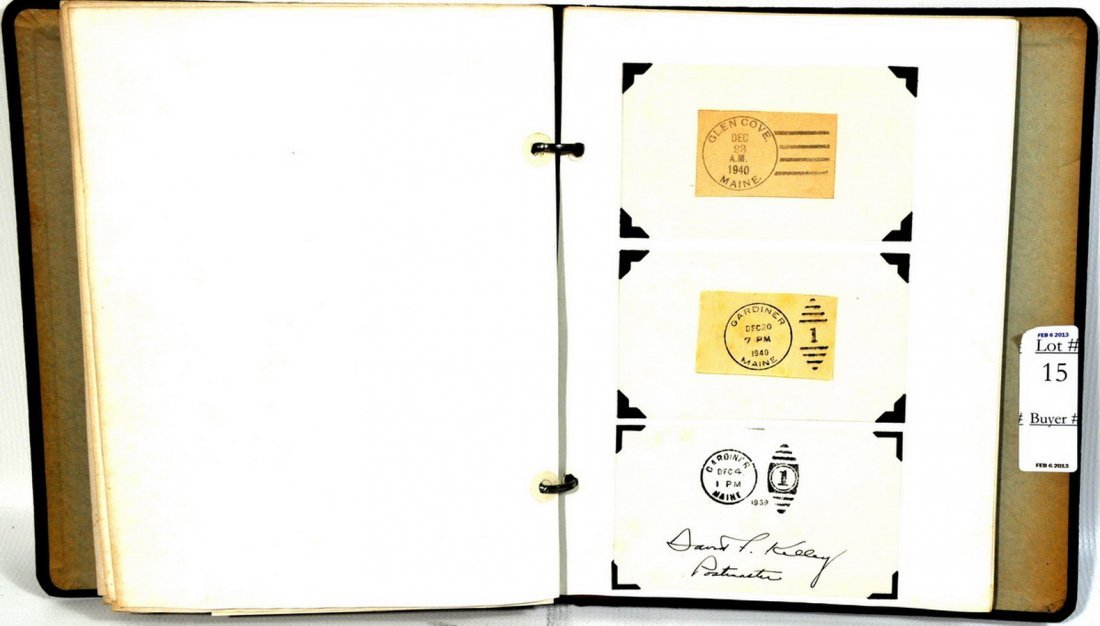 Binder of post marks