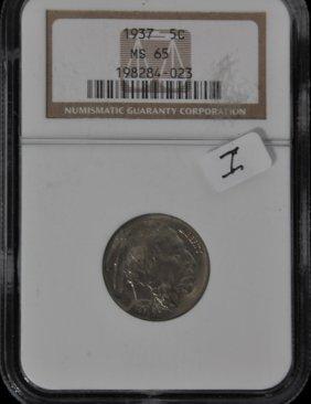 1937 Buffalo Nickel MS 65