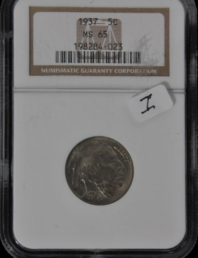 1937 Buffalo Nickel MS 65