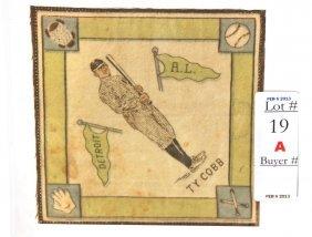 "1914 B18 Ty Cobb Blanket 5""x5"""