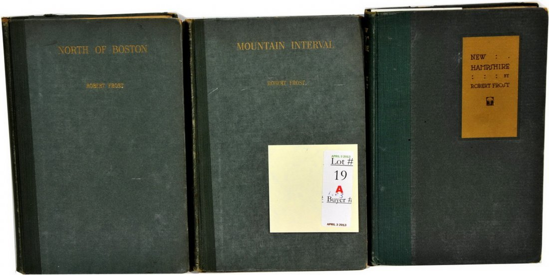 3 books by Robert Frost signed(SC4)