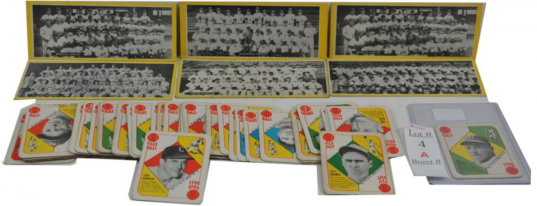 Complete set of 1951 Topps Red Back Cards/SC3