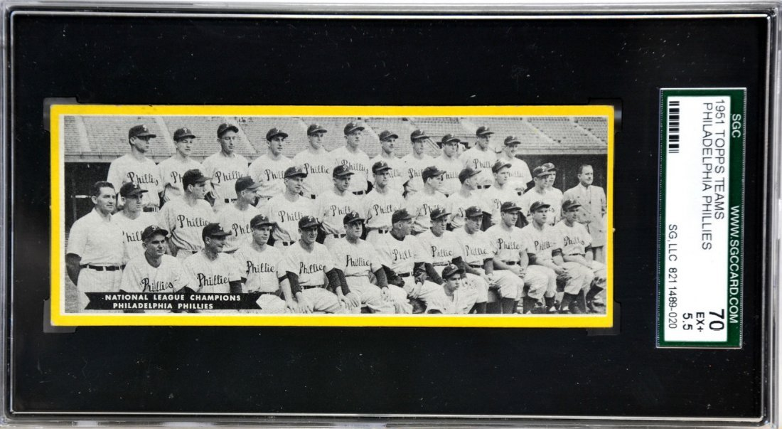 1951 Topps Team Cards Philadelphia Phillies/SC5