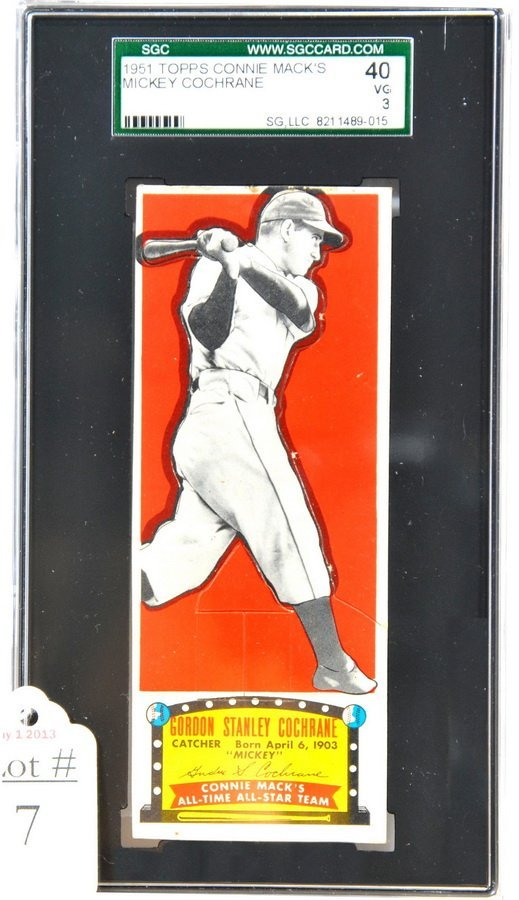 1951 Connie Mack's All Stars Mickey Cochrane/SC2