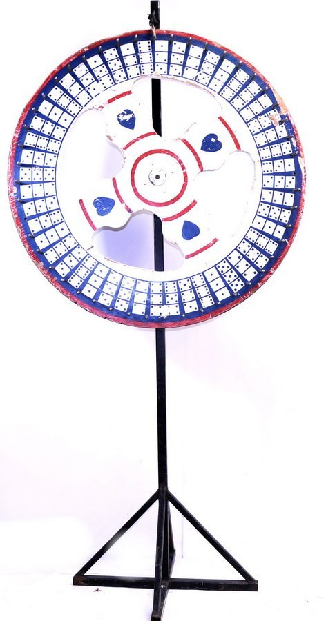 "48"" Diameter Folky Game Wheel/FRONT"
