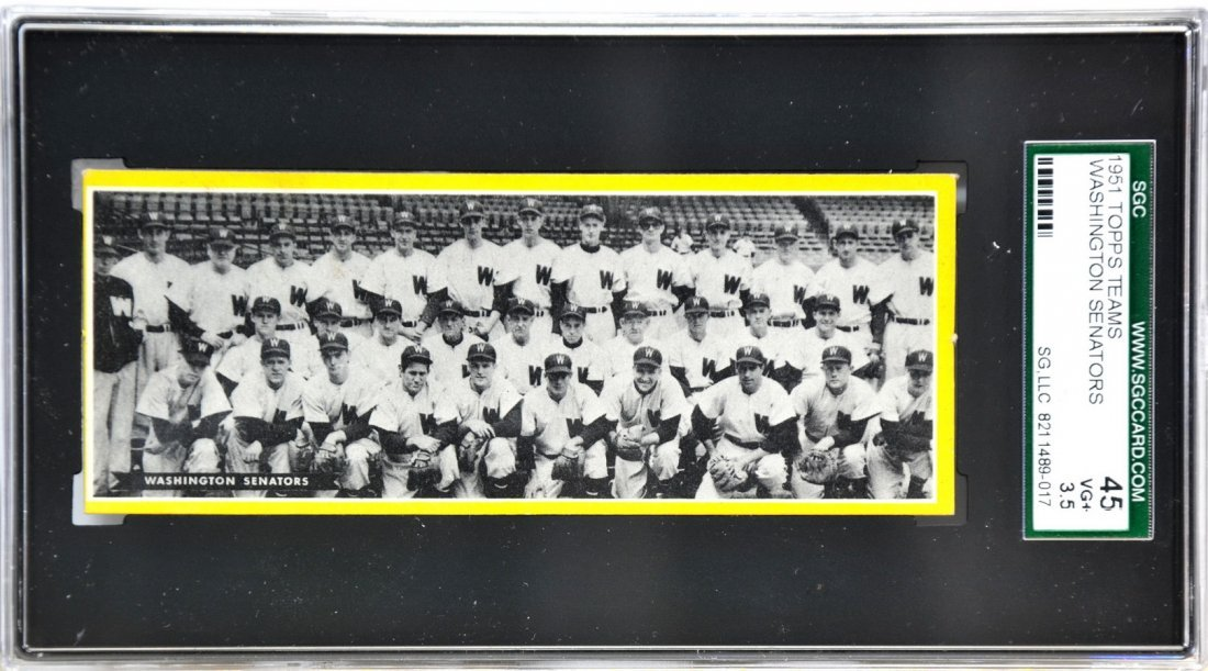 1951 Topps Teams Washington Senators/SC2
