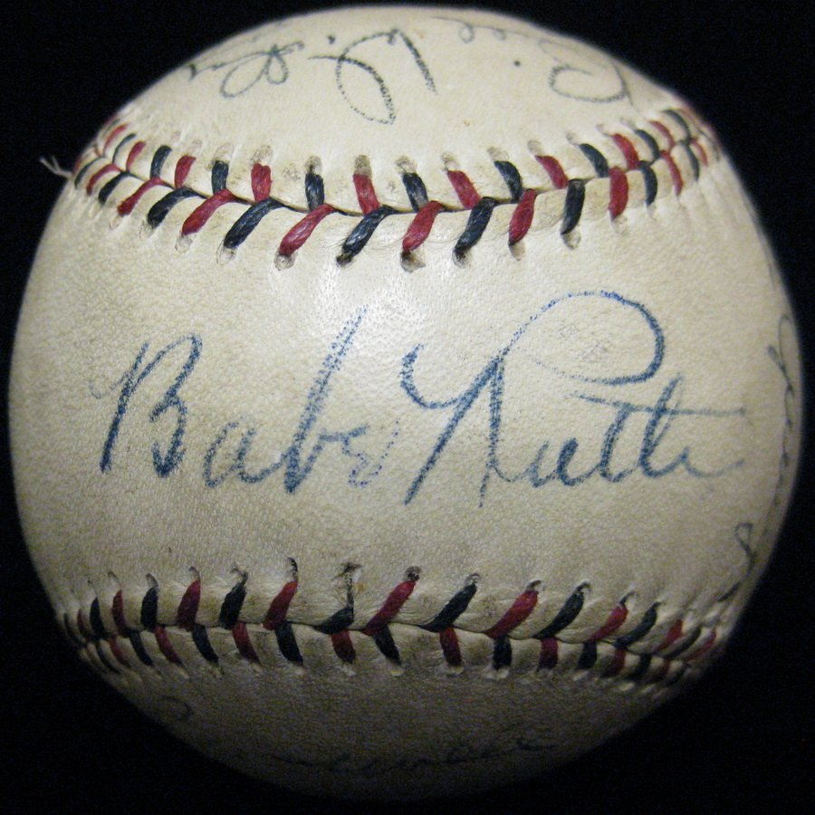 1928 NY Yankees Autographed Team Ball/SC3