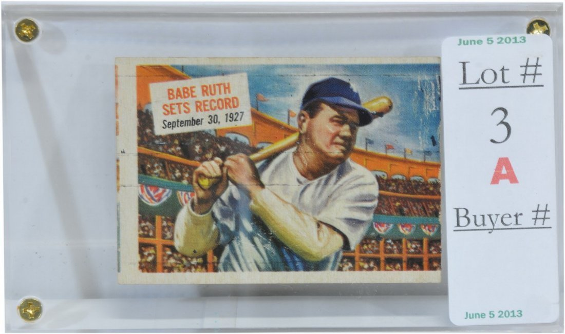 1954 Scoops Babe Ruth Card  SC5