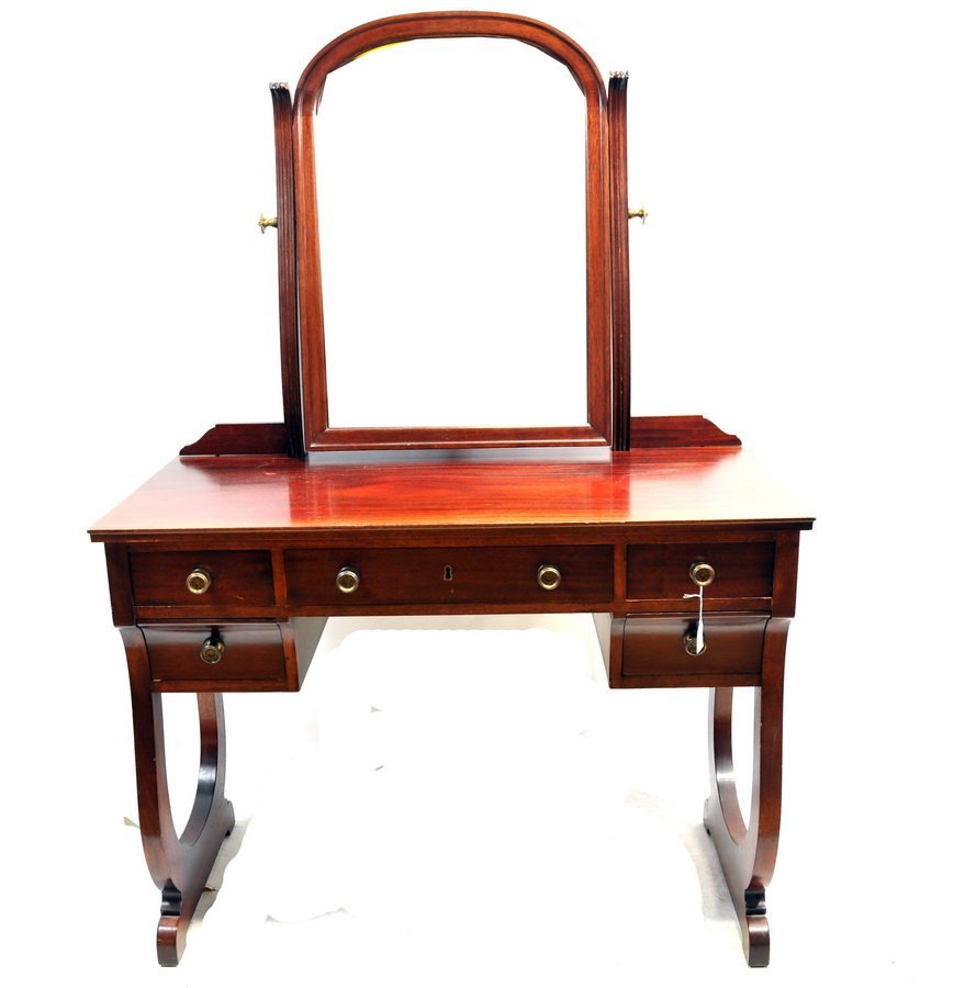 Mahogany Vanity with mirror and drawers  CG