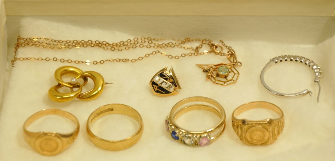 Gold Jewelry Lot