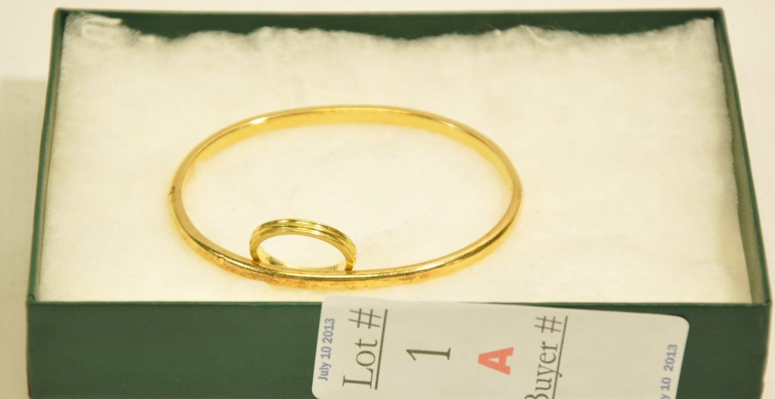 2 Pieces of 18kt. Gold Jewelry 13 Grams