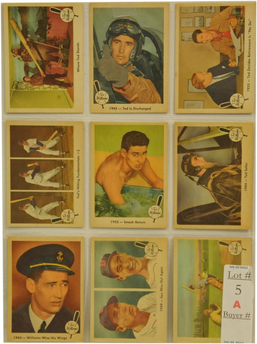 9 1959 Fleer Ted Williams Cards